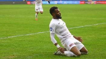 Aaron Boupendza Hatayspor gol sevinci