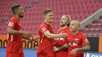 RB Leipzig gol sevinci 17 Ekim 2020