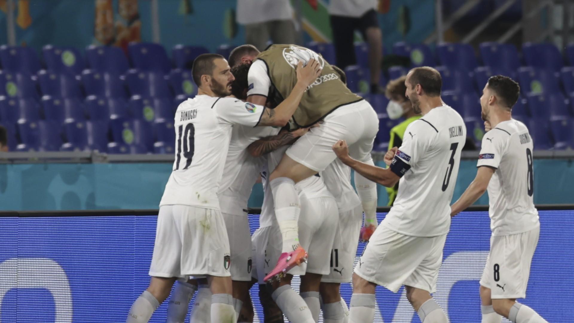 İtalya Gol Sevinci 11 Haziran 2021 EURO 2020