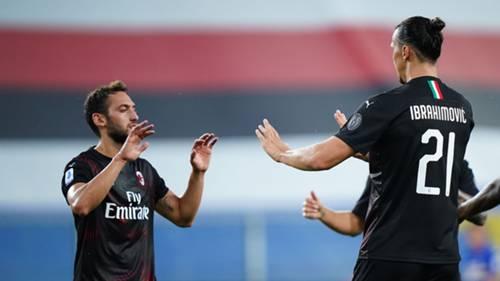 Hakan Çalhanoğlu Ibrahimovic Milan 11072020