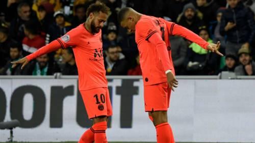 Neymar Mbappe Saint Etienne v PSG 12152019