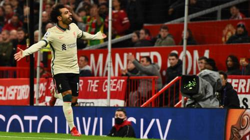 Mohamed Salah Liverpool gol sevinci 24 Ekim 2021