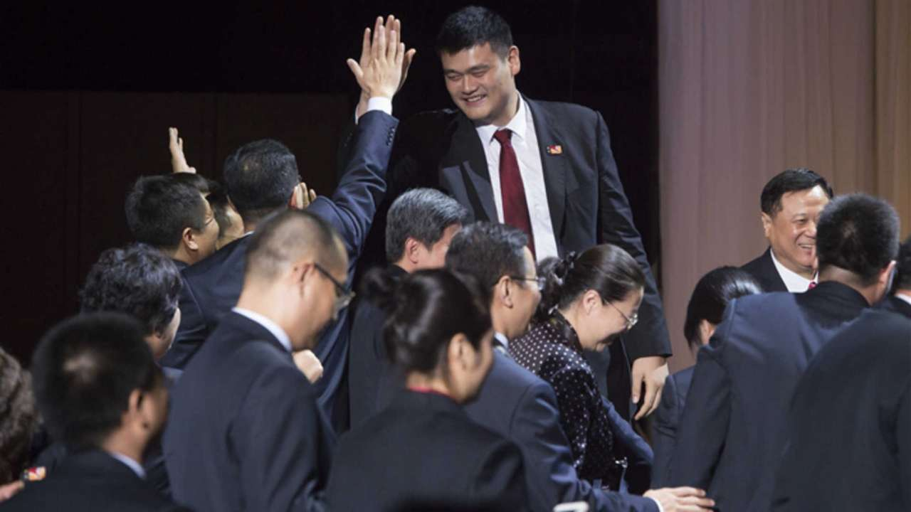 Yao Ming and the China delegation