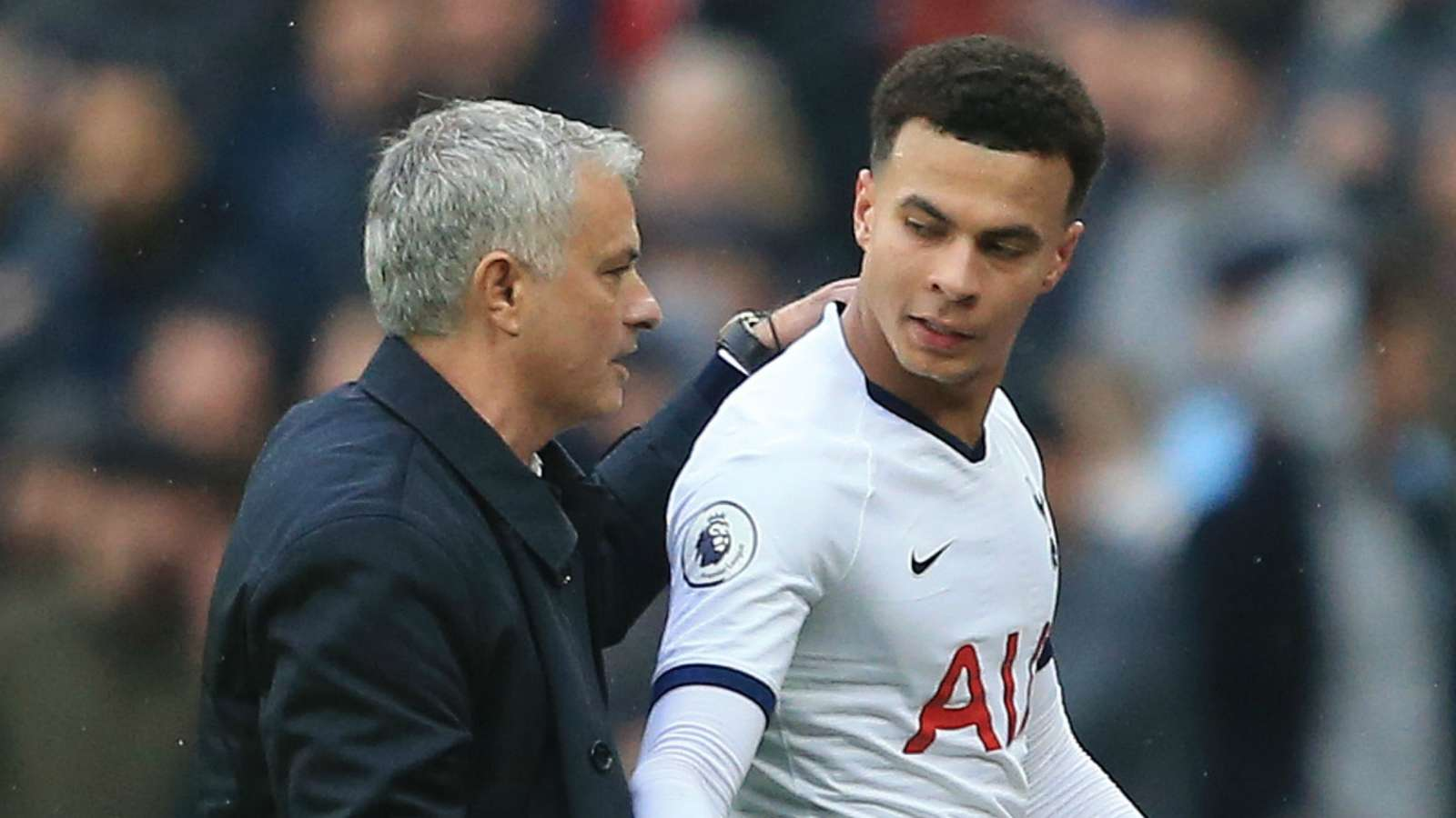 Jose Mourinho and Dele Alli - cropped