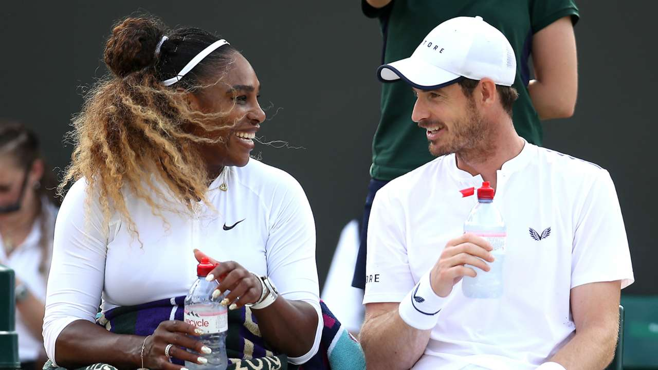 Serena Williams and Andy Murray - cropped
