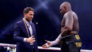Eddie Hearn and Dillian Whyte - cropped