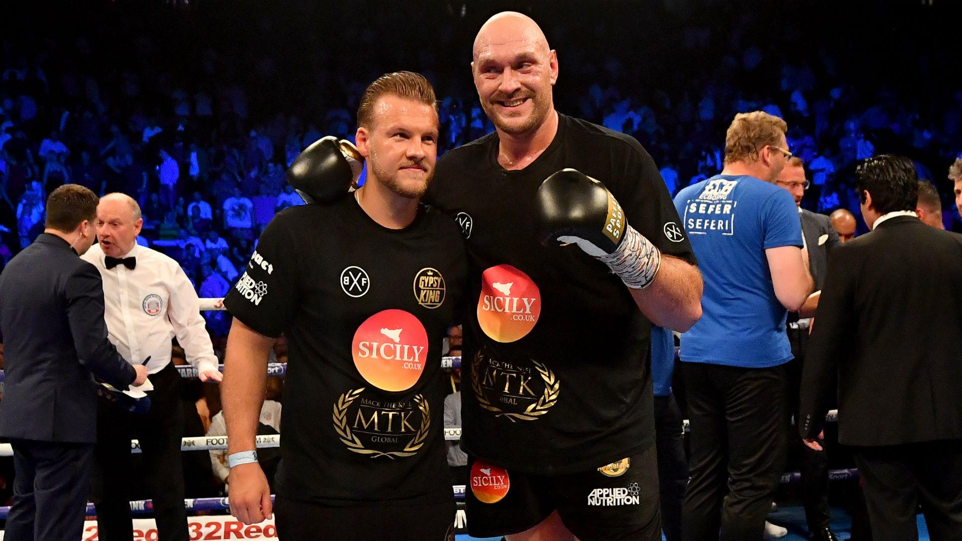 Tyson Fury splits from trainer Ben Davison two months from fight vs. Deontay Wilder