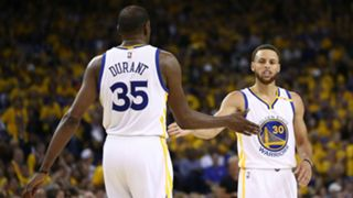 Kevin Durant Stephen Curry - cropped