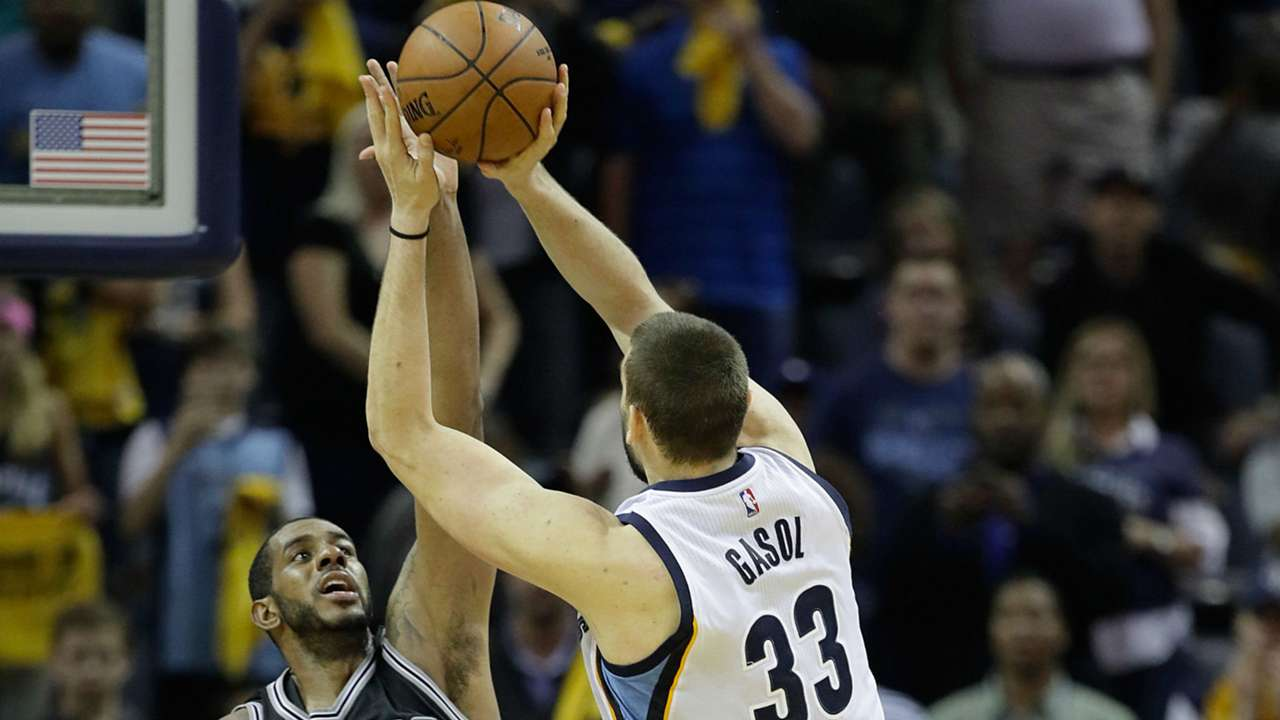 Marc Gasol hits game winner against the Spurs