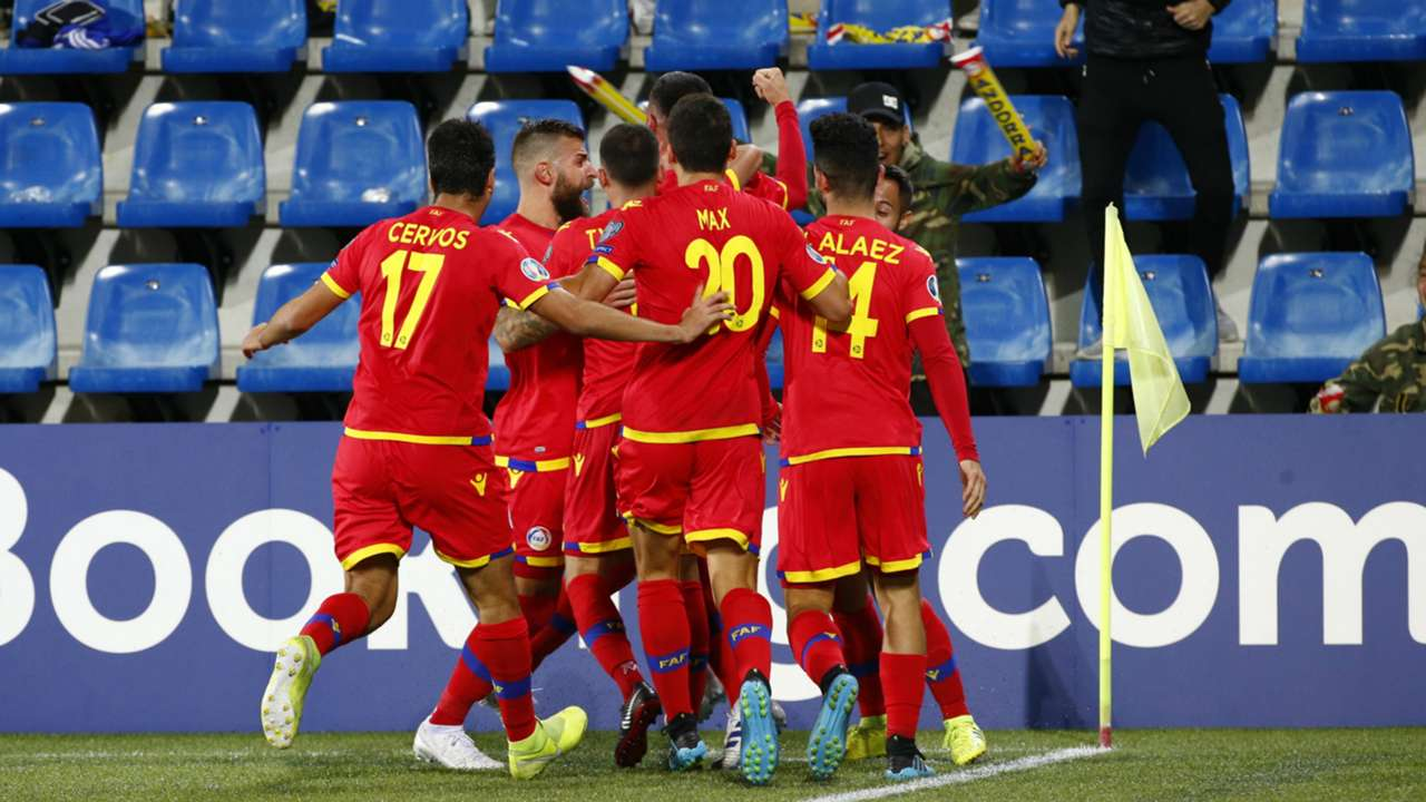 Andorra players celebrate - cropped