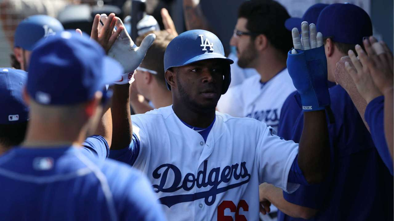Yasiel Puig after his HR Sunday.