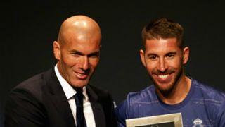 Zinedine Zidane and Sergio Ramos