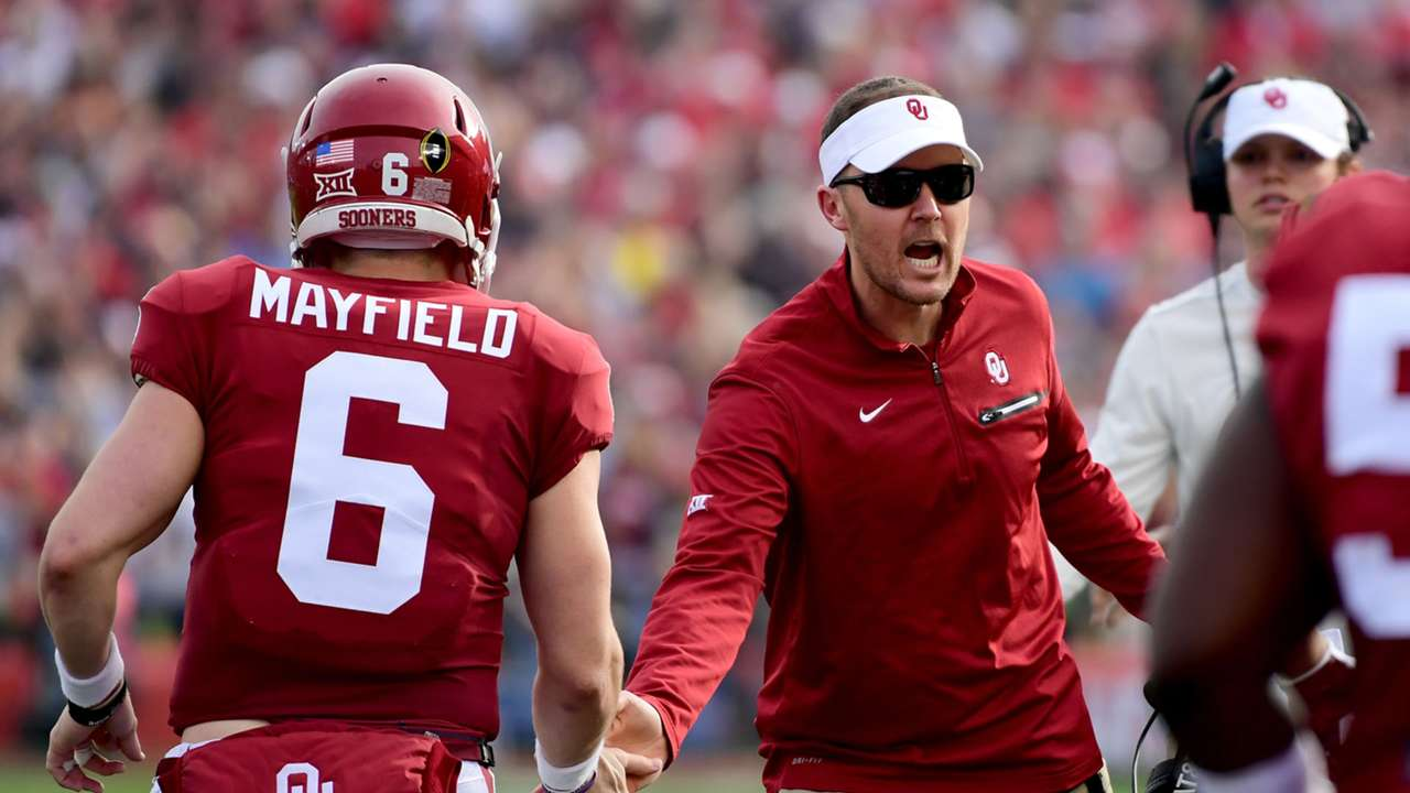 Baker Mayfield (left) and Lincoln Riley