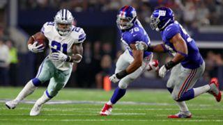 Ezekiel Elliott against the Giants
