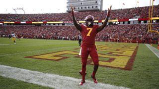 Iowa State's matchup with Iowa was delayed mutliple times due to weather.
