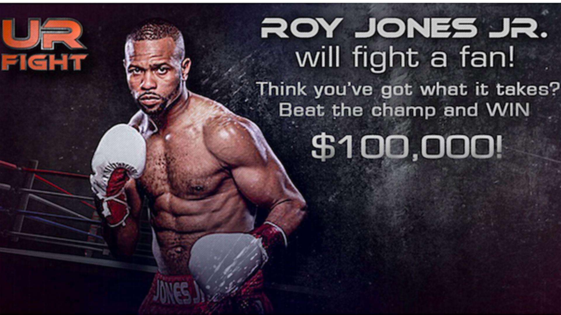 Roy Jones Jr. will fight fan with $100K on the line