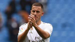 Hazard scores first Real Madrid goal with delightful lob