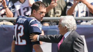 Tom Brady with Robert Kraft