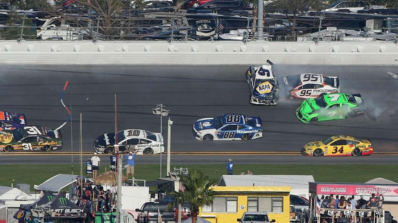 Danica Patrick wrecks at Daytona