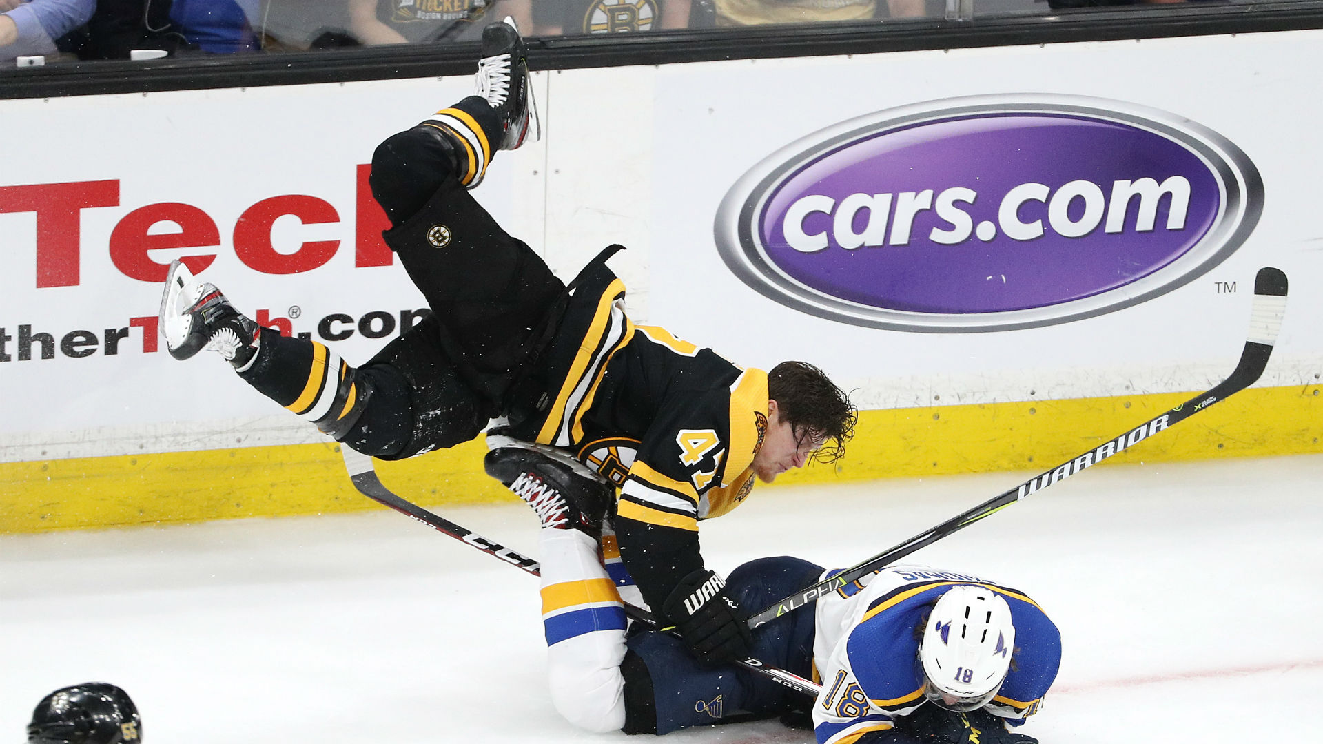 Stanley Cup Bruins Krug Reflects On Helmet Less Hit Sporting News