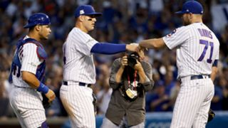 Cubs celebrate NLDS Game 3 victory