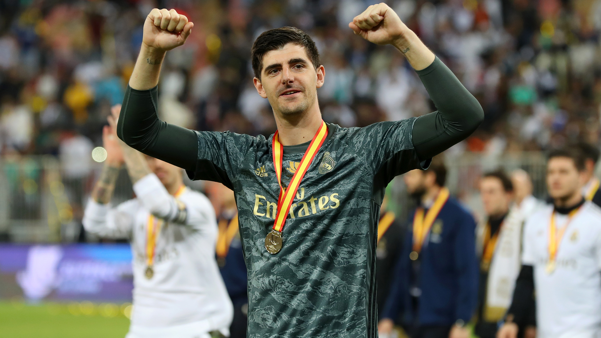 'Courtois is the best in the world' - Real president Perez praises goalkeeper after Super Cup win