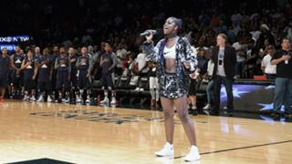 Justine Skye at the Barclays Center in 2016
