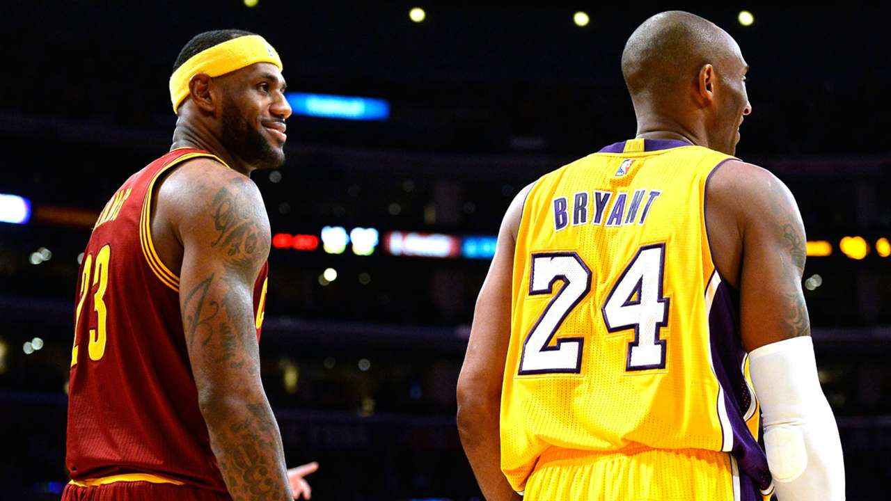 LeBron James Kobe Bryant - Cropped
