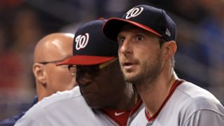 Dusty Baker (left) and Max Scherzer (right)