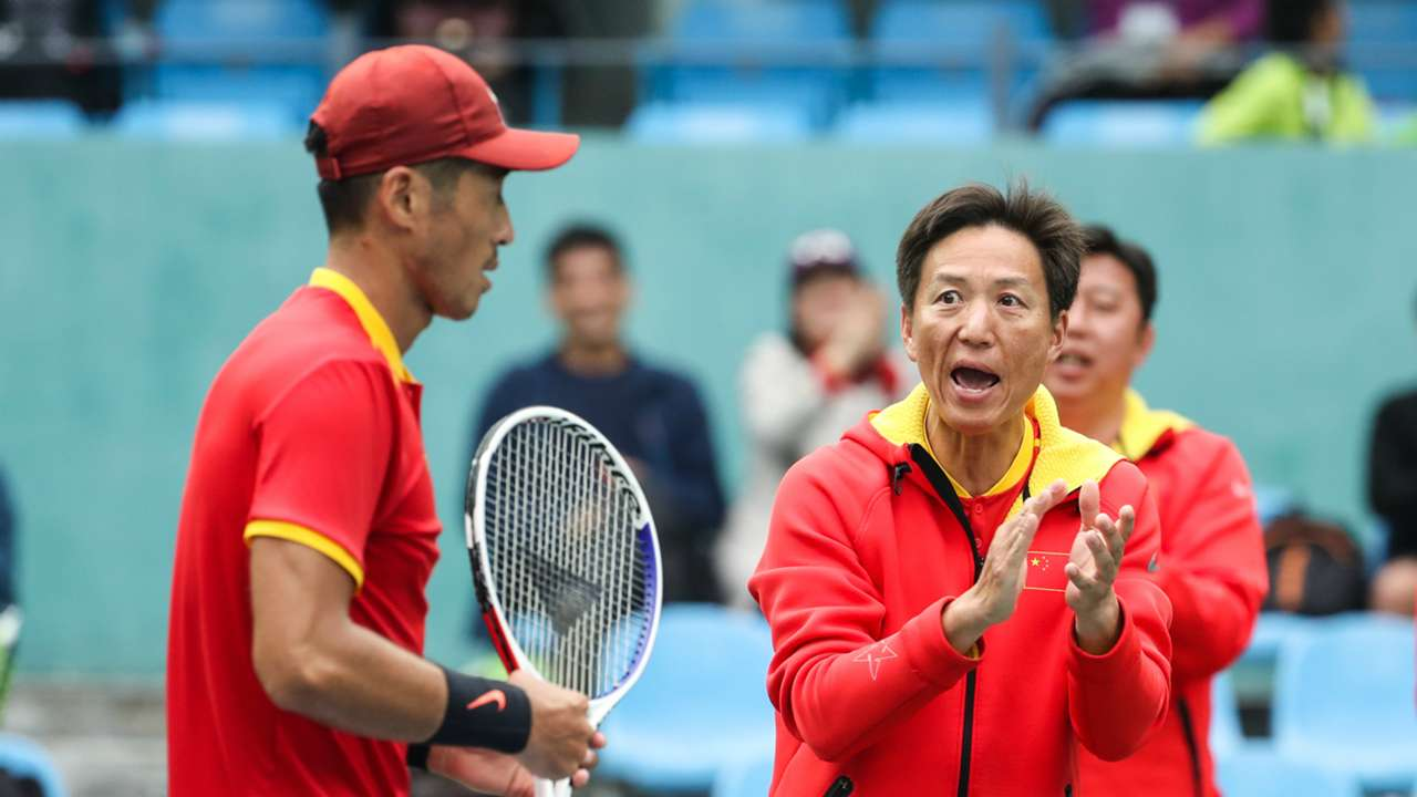 China Davis Cup team - cropped