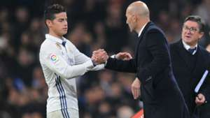 james rodriguez zinedine zidane - cropped