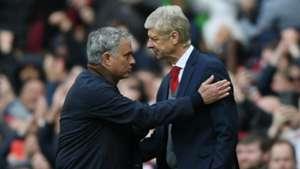 Jose Mourinho and Arsene Wenger - cropped