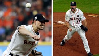 Charlie Morton (left) and Lance McCullers Jr. (right)