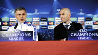 JoseMourinho ZinedineZidane Real Madrid - Cropped