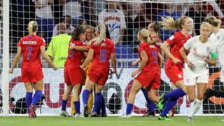 USA celebrates vs. England