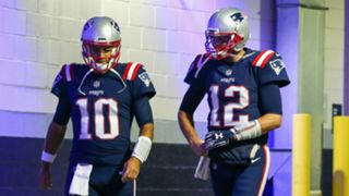 Jimmy Garoppolo and Tom Brady - cropped