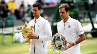 Novak Djokovic and Roger Federer - cropped