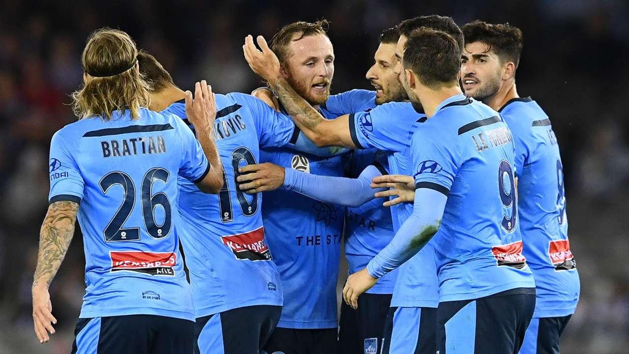 Sydney players celebrate - cropped