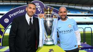 Khaldoon Al Mubarak and Pep Guardiola - cropped