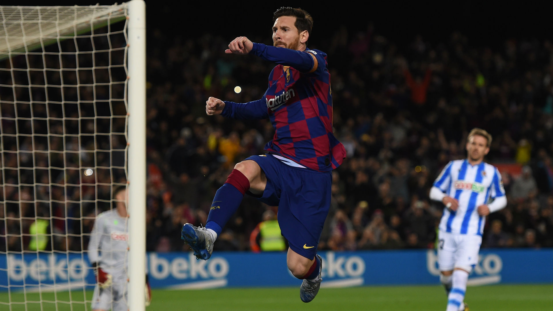 Barcelona 1-0 Real Sociedad: Late Lionel Messi penalty saves hosts