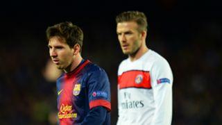 Lionel Messi and David Beckham