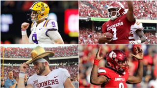 Joe Burrow, Kyler Murray, Baker Mayfield and Lamar Jackson