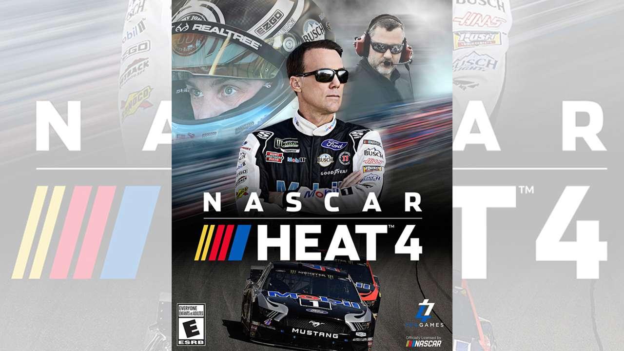 NASCAR Heat 4 cover featuring Kevin Harvick, Tony Stewart