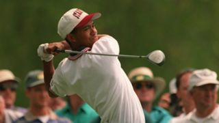 Tiger Woods at Augusta in 1995 - cropped