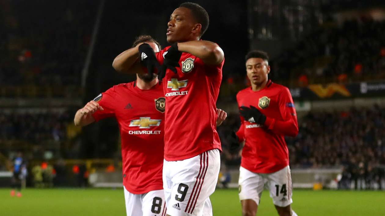 Europa League (2019-2020) Report: Club Brugge 1-1 Manchester United - Martial away goal gives Red Devils the edge