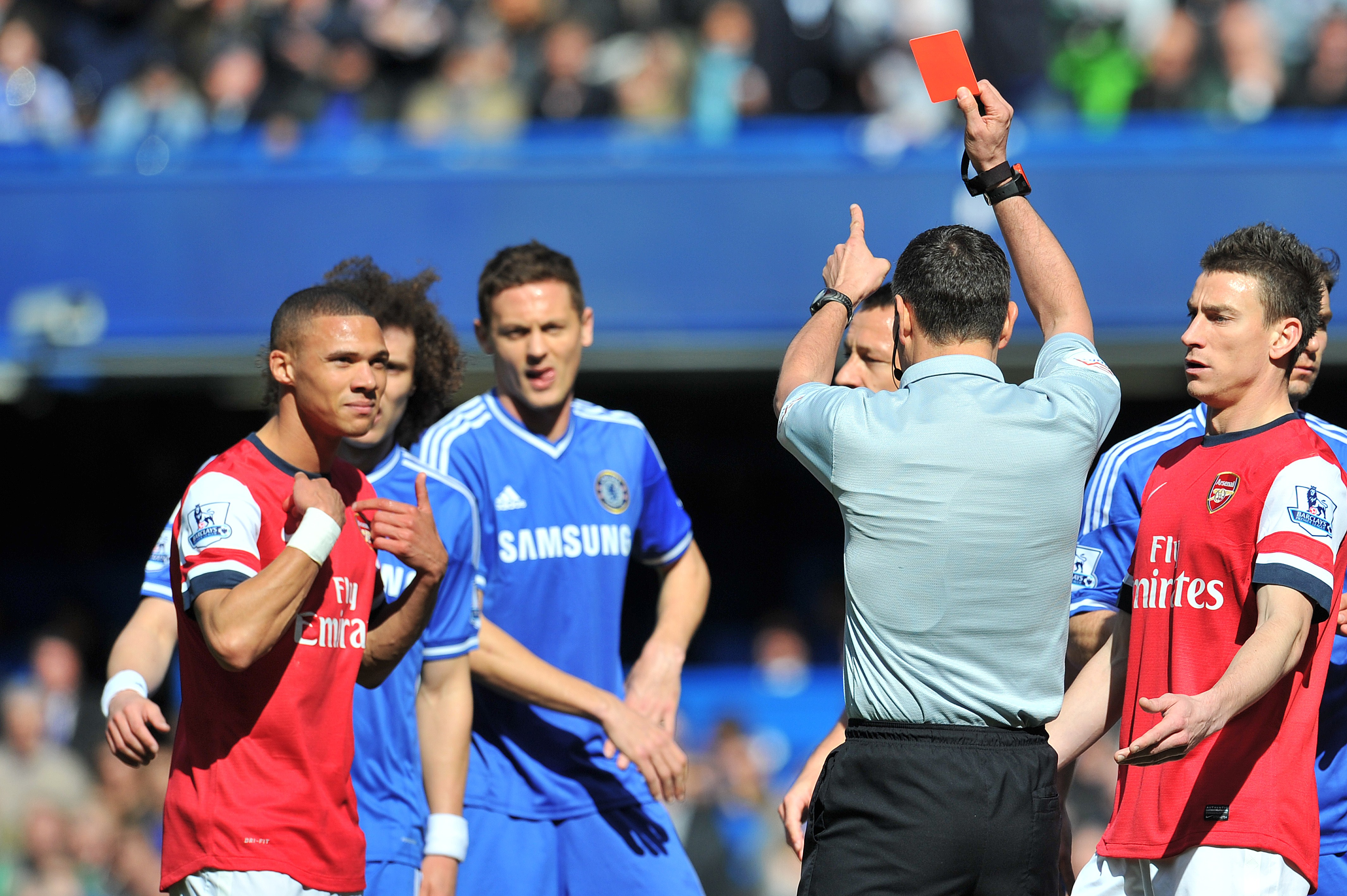 Andre Marriner apologises to Arsenal for Kieran Gibbs red card ...
