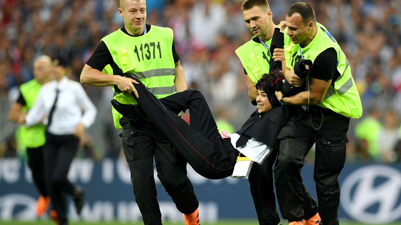 World Cup pitch invasion - cropped