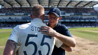 England's Ben Stokes and Joe Root