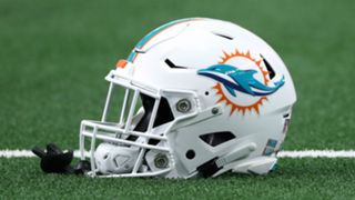 Miami Dolphins helmet - cropped