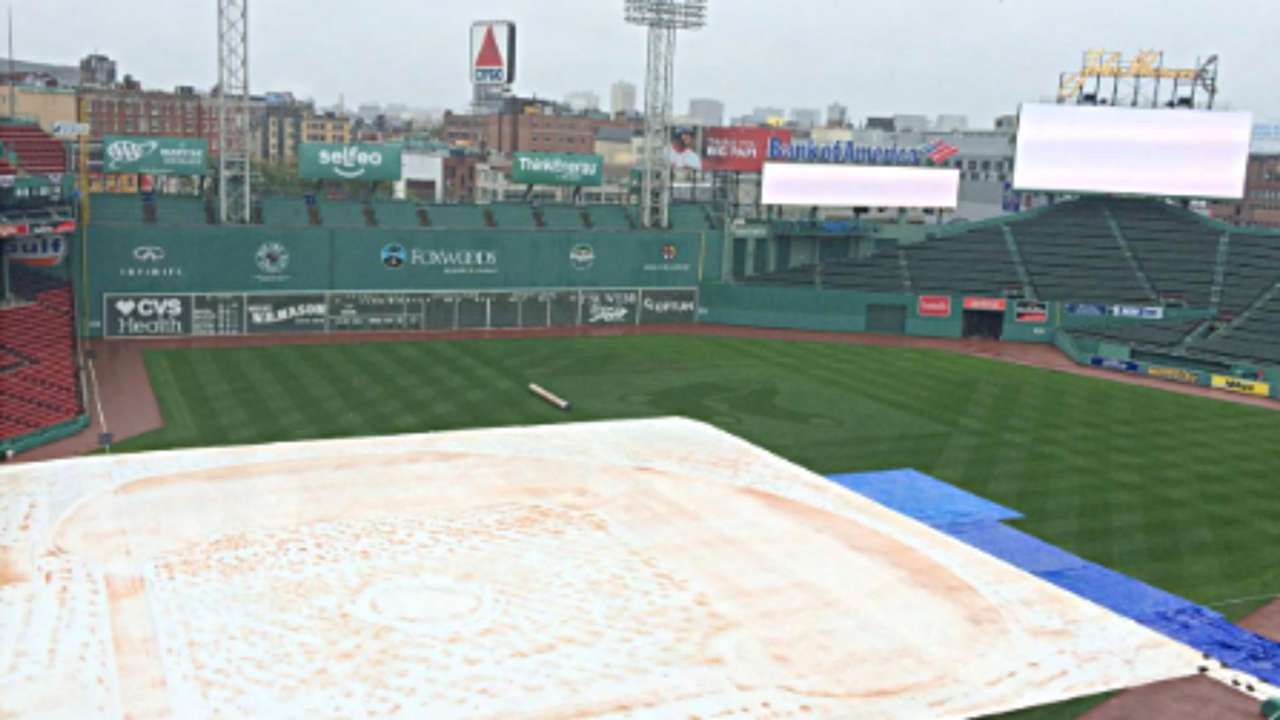 Rain cancels Game 3 of the ALDS at Fenway Park